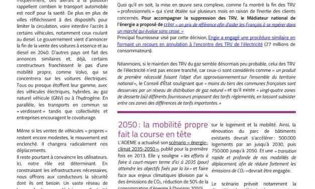 Newsletter territoire d'énergie n° 4
