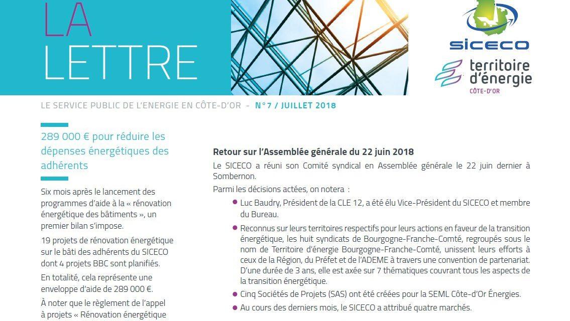 Newsletter territoire d'énergie Côte-d'Or