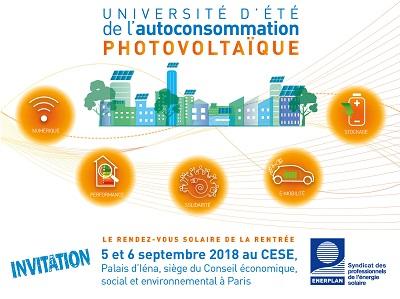 Autoconsommation photovoltaïque : la FNCCR s'associe à la première université d'été d'Enerplan