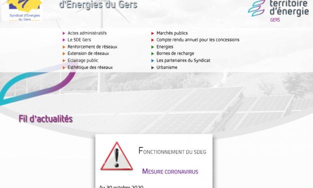 Territoire d'énergie Gers lance son nouveau site Internet