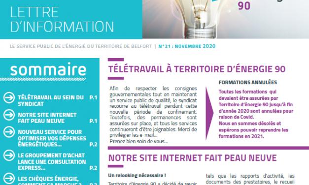 «Synergie» : TE 90 publie sa lettre d'information
