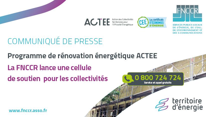ACTEE : lancement d'une cellule de soutien au service des collectivités