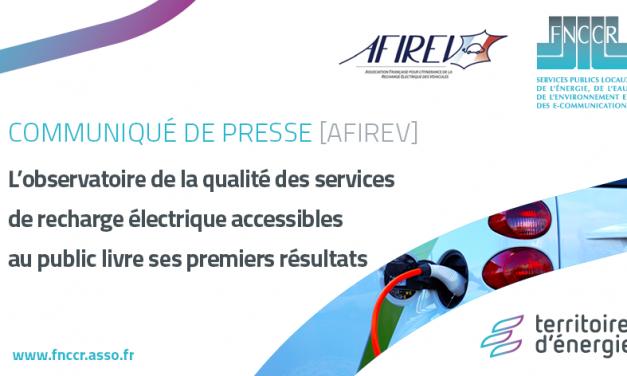 Publication de l'observatoire de la qualité des services de l'AFIREV