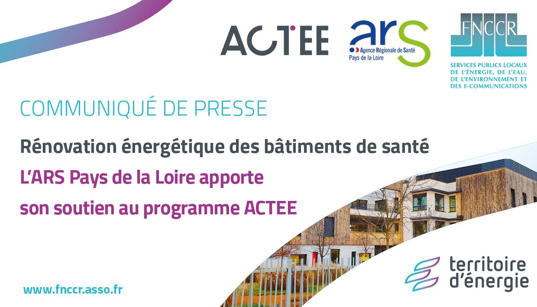 Bâtiments de la santé : l'ARS Pays de la Loire apporte son soutien au programme ACTEE