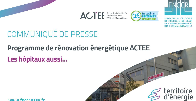 Rénovation énergétique : ACTEE étend son action aux bâtiment de la santé