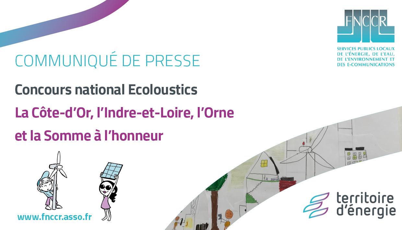Les lauréats du concours Ecoloustics 2020/2021 sont connus