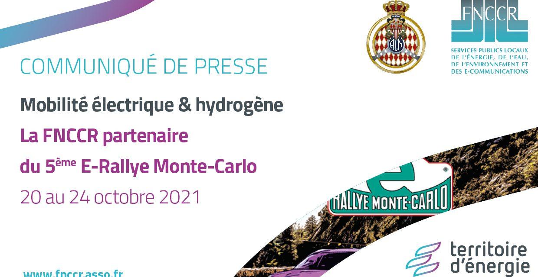 Mobilité propre : la FNCCR partenaire du E-Rallye Monte-Carlo 2021