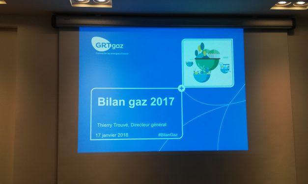 GRTgaz présente son bilan gaz 2017